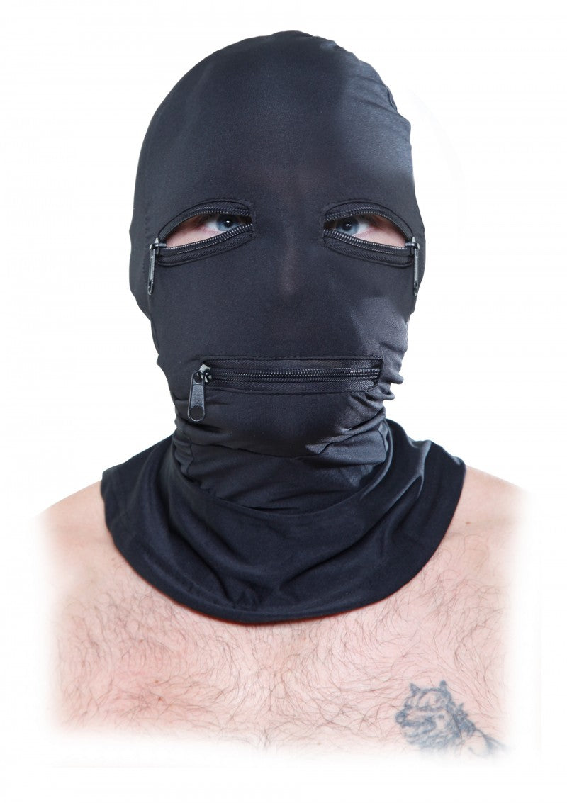 Zipper Faced Hood