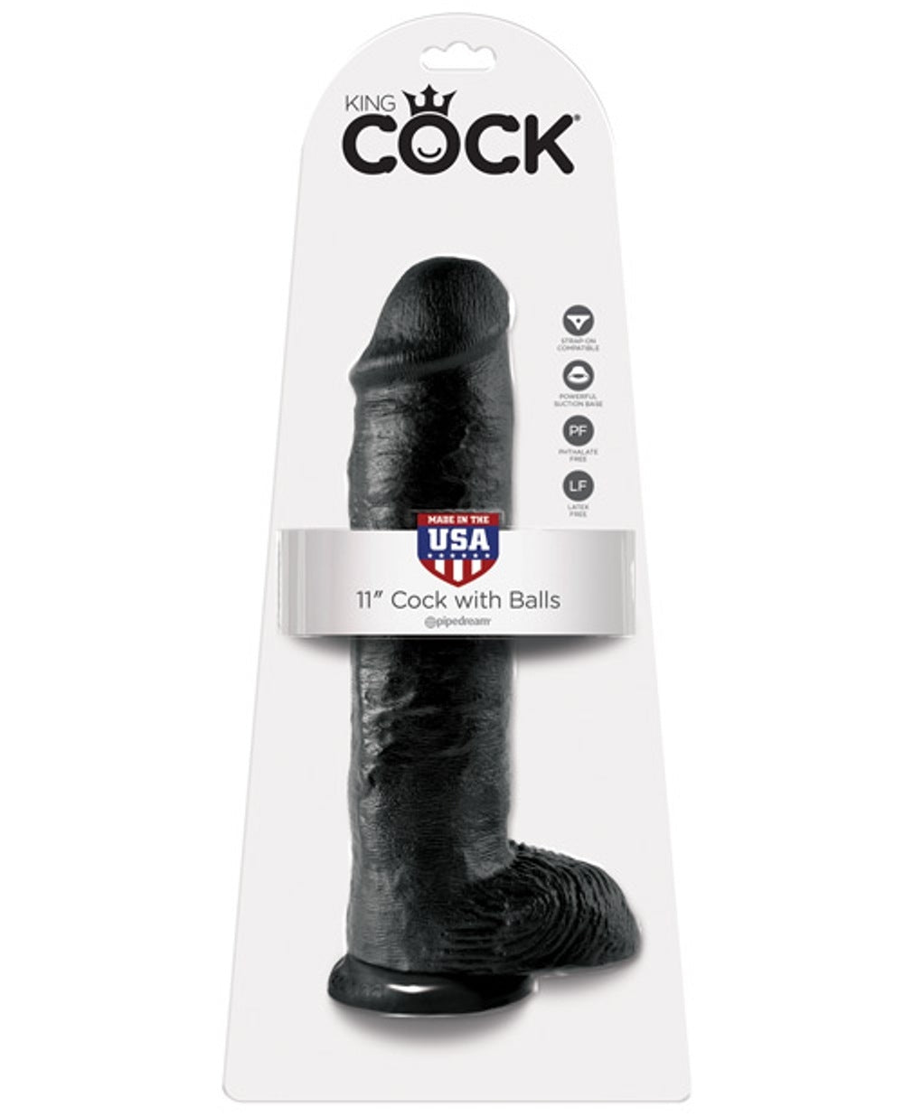 King Cock with balls 11"
