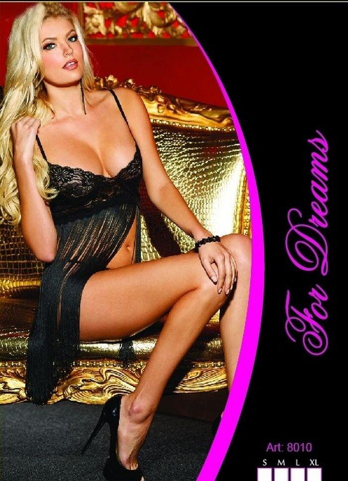 Dreams Lace Chest Decollete Tassels Babydoll