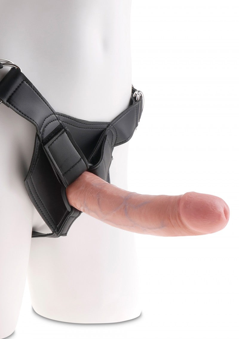 King Cock Strap-On Harness 8 Inch Cock | Dildos, Vibrator, Realistic Dildos, Sex Toys For Women, Sex Toys, Adult Toys | My Sex Shop