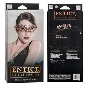 Entice Mystique Rose Gold Eye Mask | Sex Masks, Sex Toys, Adult Toys | My Sex Shop