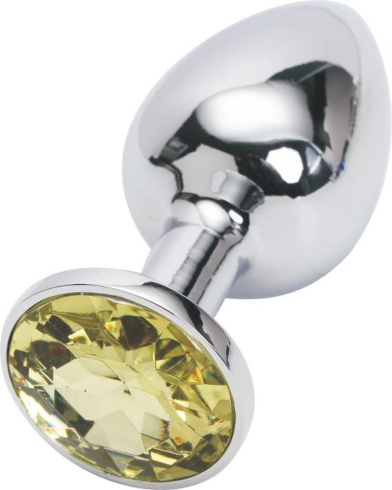 Silver Butt Plug Light Yellow Medium