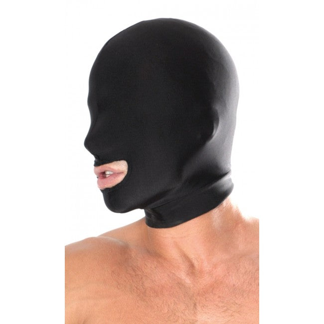 Fetish Fantasy Spandex Open Mouth Hood Black | Sex Masks, Sex Toys, Adult Toys | My Sex Shop