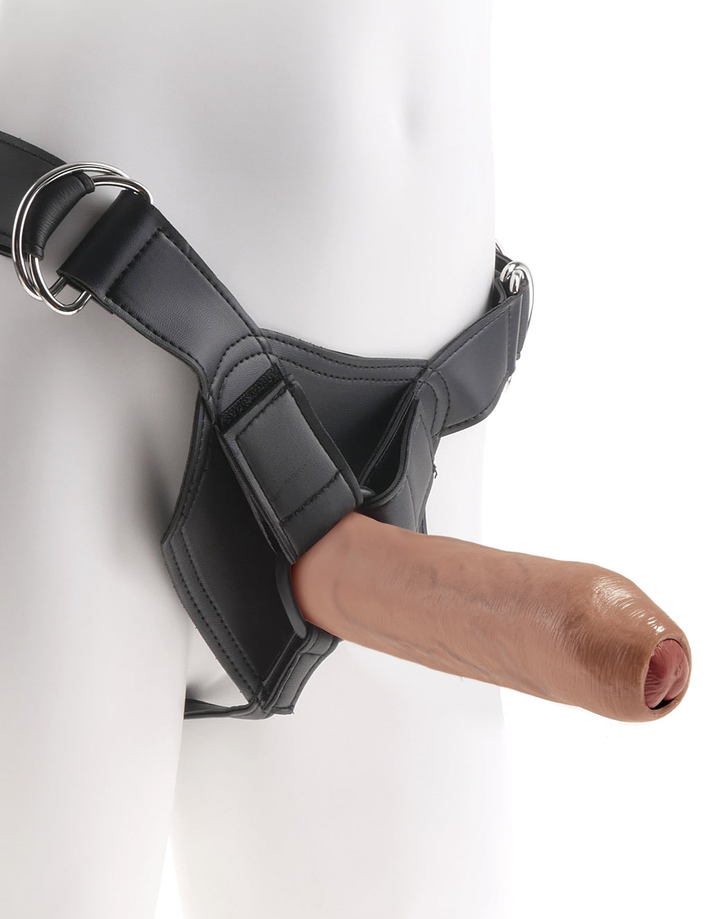 King Cock Strap-On Harness w/ 7 Inch Tan Uncut Cock | Dildos, Vibrator, Realistic Dildos, Sex Toys For Women, Sex Toys, Adult Toys | My Sex Shop