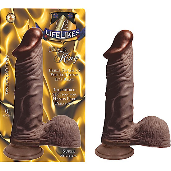 "Lifelikes Black King 9"" Dildo 