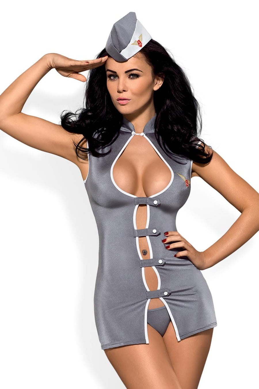 Sexy Stewardess Costume | 3 piece set