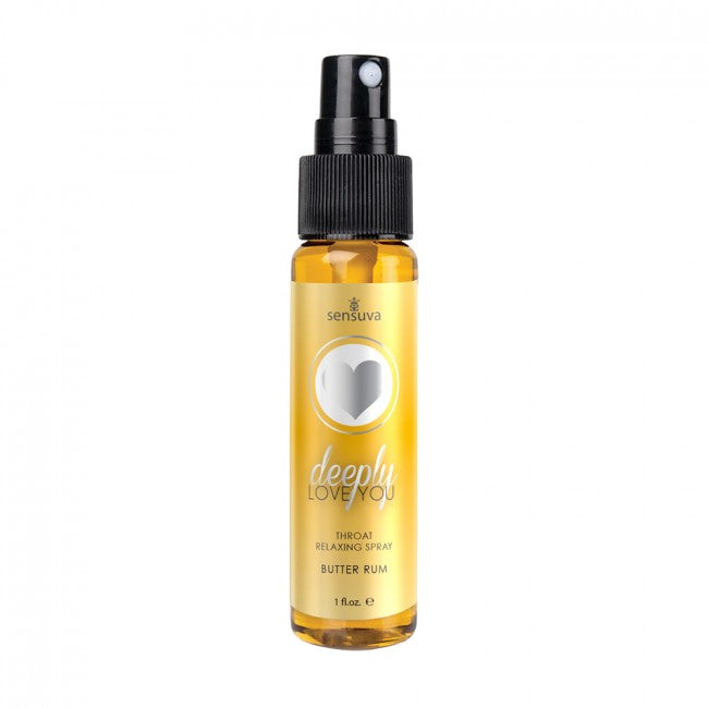 Sensuva Deeply Love You Relaxing Throat Spray Butter Rum Brown | Better Sex, Sex Enhancement, Sex Toys, Adult Toys | My Sex Shop