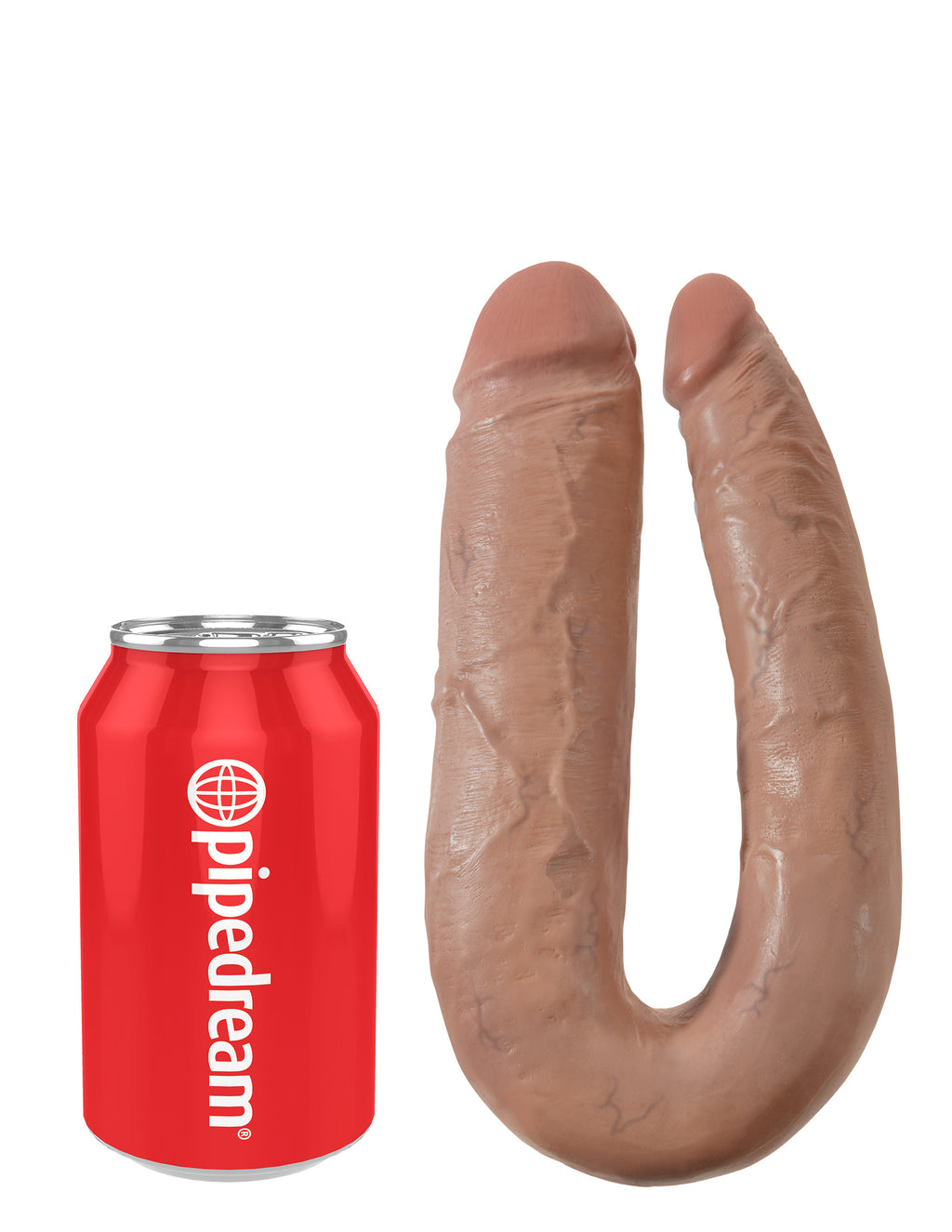 King Cock U-Shaped Large Double Trouble Tan | Dildos, Vibrator, Realistic Dildos, Sex Toys For Women, Sex Toys, Adult Toys | My Sex Shop