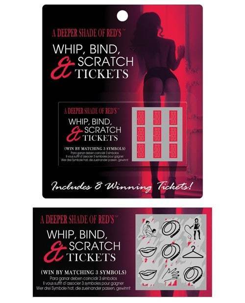 Deeper shades of reds whip, bind and scratch ticket | Better Sex, Couples Sex, Sex Toys, Adult Toys | My Sex Shop
