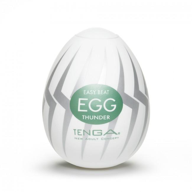Tenga Egg Thunder White, twist & squeeze