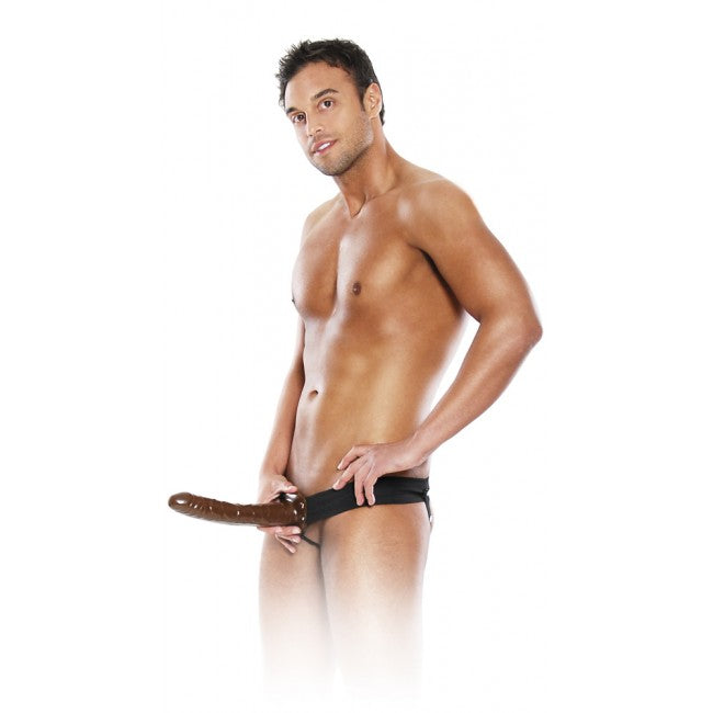 Fetish Fantasy Chocolate Dream Hollow Strap-On Brown 25cm | Penis Extention, Sexy Toys for Men, Sex Toys, Adult Toys | My Sex Shop