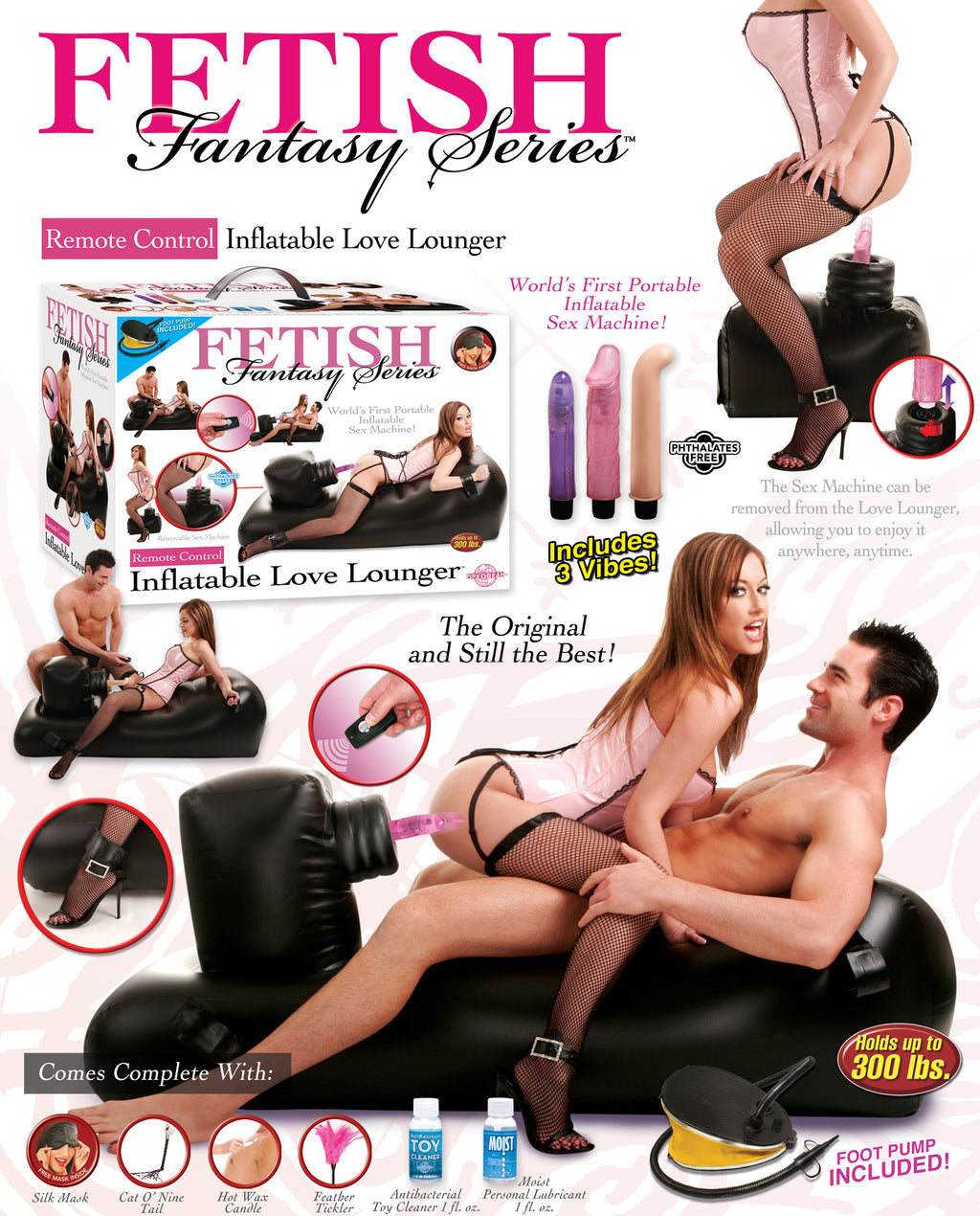 Black Inflatable Love Lounger