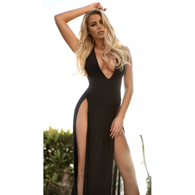 Merry See Sexy Dress Long Slit Night