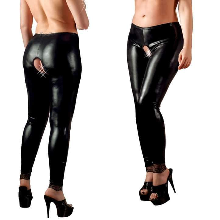 Cottelli Collection stretchy Plus Crotchless Leggings