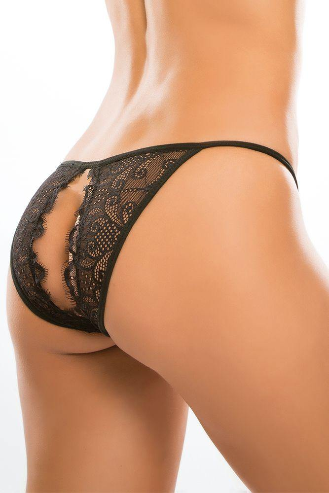 Adore Allure Lingerie | Lace Enchanted Belle Open Back Panty | Crotchless