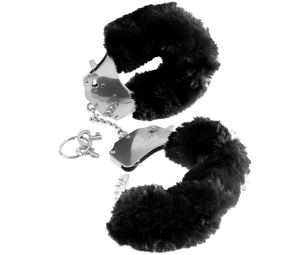 Original Black Furry Cuffs | Better Sex, Sex Enhancement, Sex Toys, Adult Toys | My Sex Shop