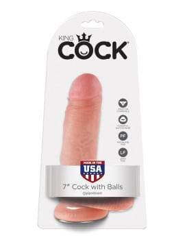 King Cock 7 inch Cock With Balls | Dildos, Vibrator, Realistic Dildos, Sex Toys For Women, Sex Toys, Adult Toys | My Sex Shop