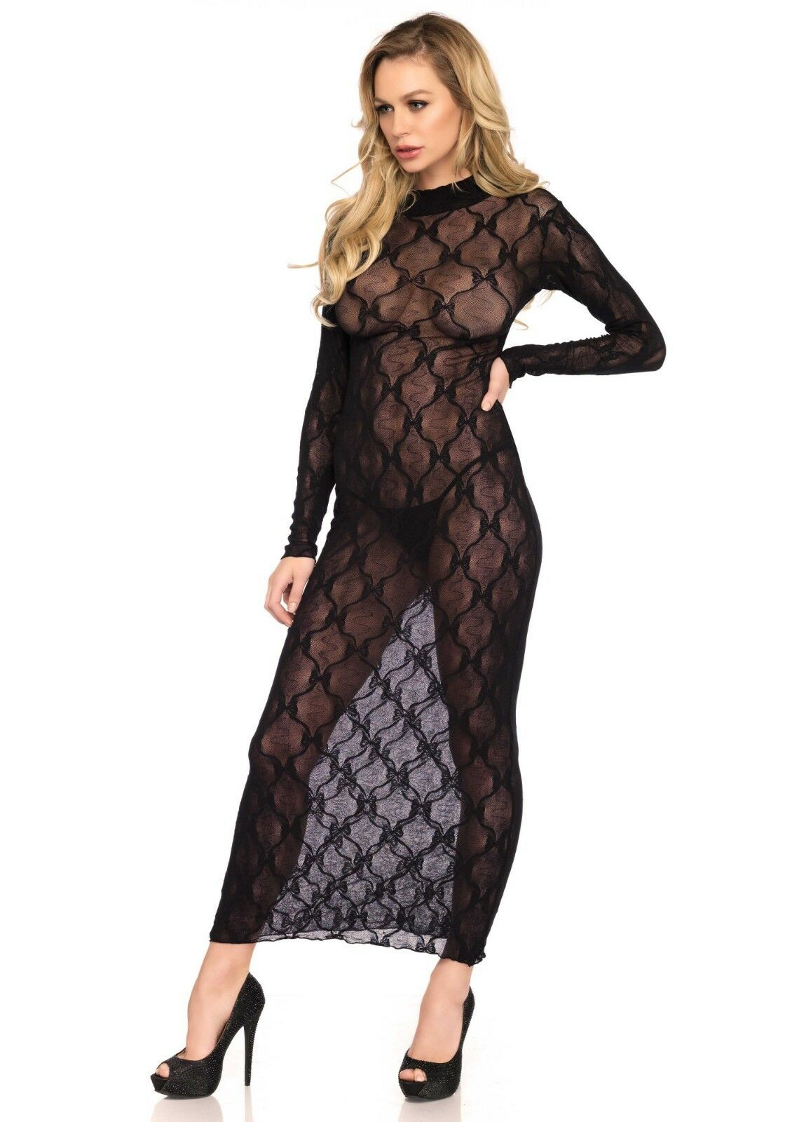 Leg Avenue Lace Long Sleeved Dress | One size