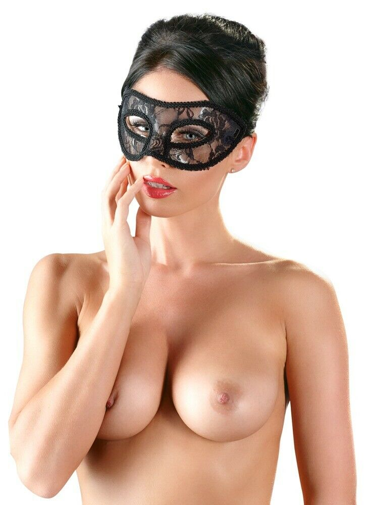 Delicate Lace Mask with Ribbon