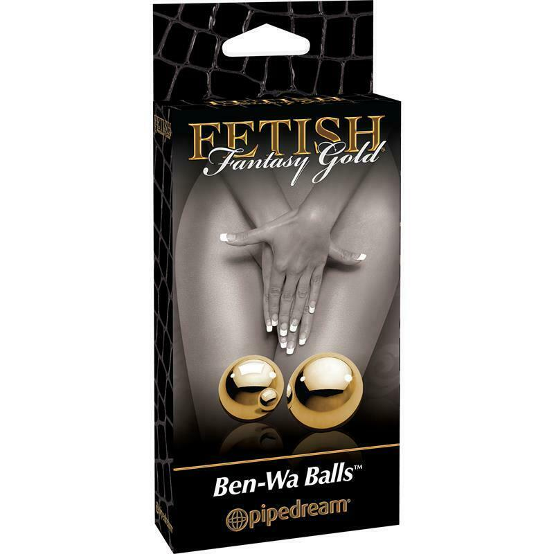 Fetish Fantasy Gold Ben-Wa Kegel, heavy steel balls