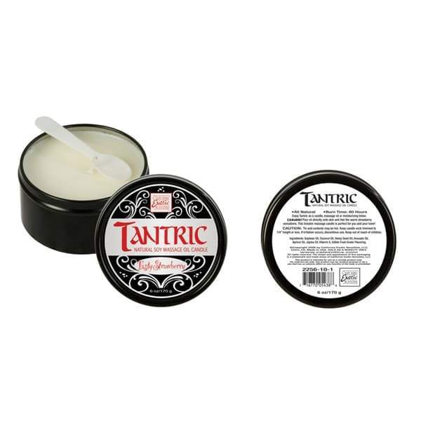 Tantric Soy Candle Strawberry | Better Sex, Sex Enhancement, Sex Toys, Adult Toys | My Sex Shop