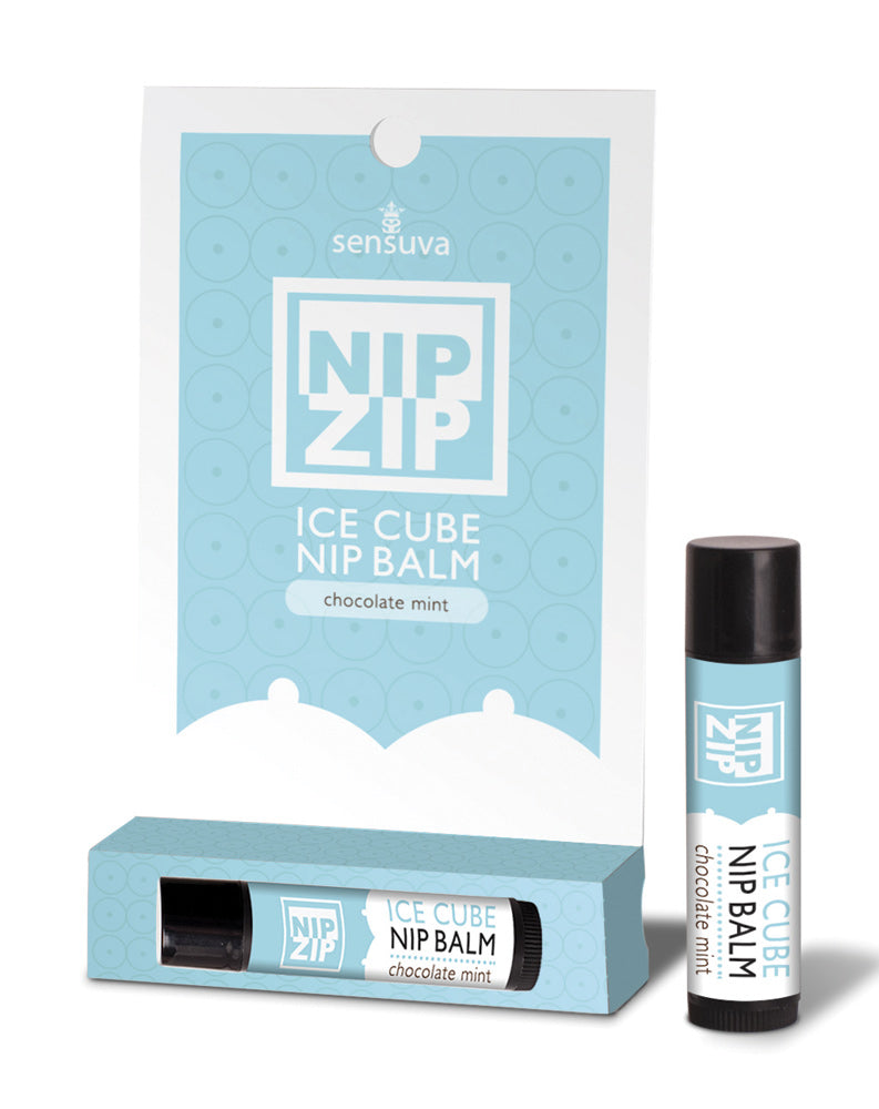 Sensuva On Nip Zip Chocolate Mint Tube Card Transparent OS