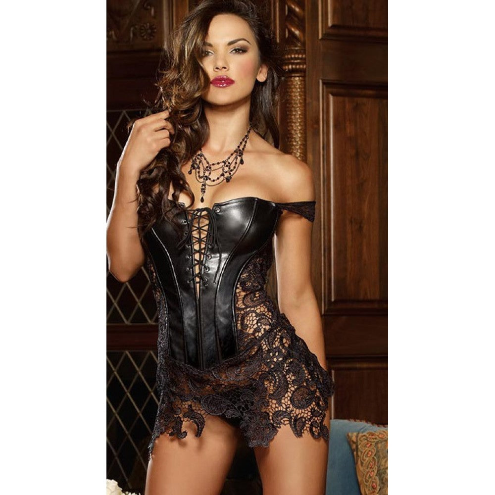 Dreams Sexy Lace Leather Fancy Wear With Zip Back | Sexy Outfits, Sexy Gowns, Sex Toys For Women, Sex Toys, Adult Toys | My Sex Shop