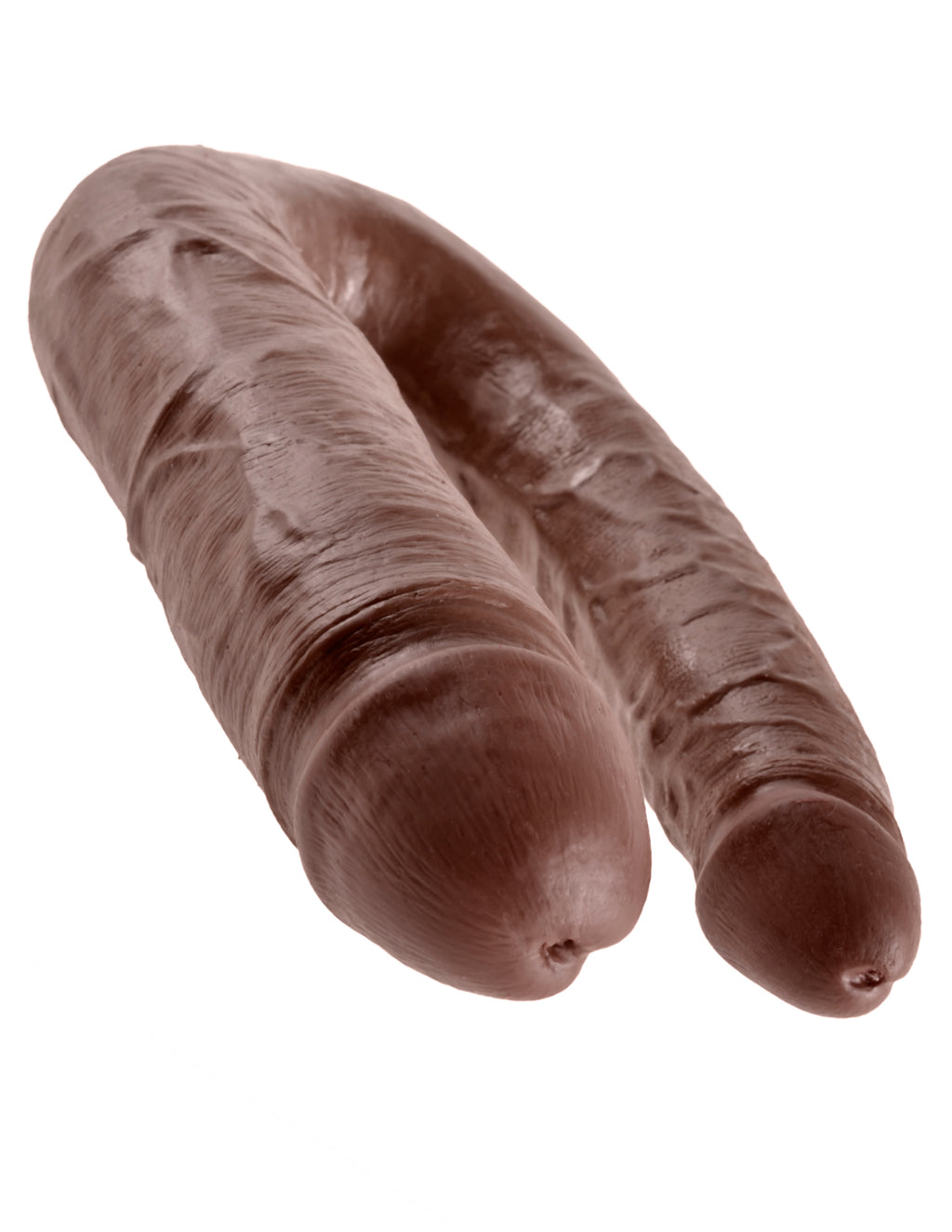 King Cock U-Shaped Large Double Trouble Brown | Dildos, Vibrator, Realistic Dildos, Sex Toys For Women, Sex Toys, Adult Toys | My Sex Shop