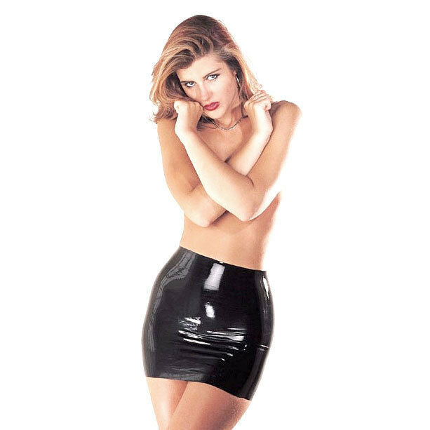 Sharon Sloane Latex Mini Skirt | Black