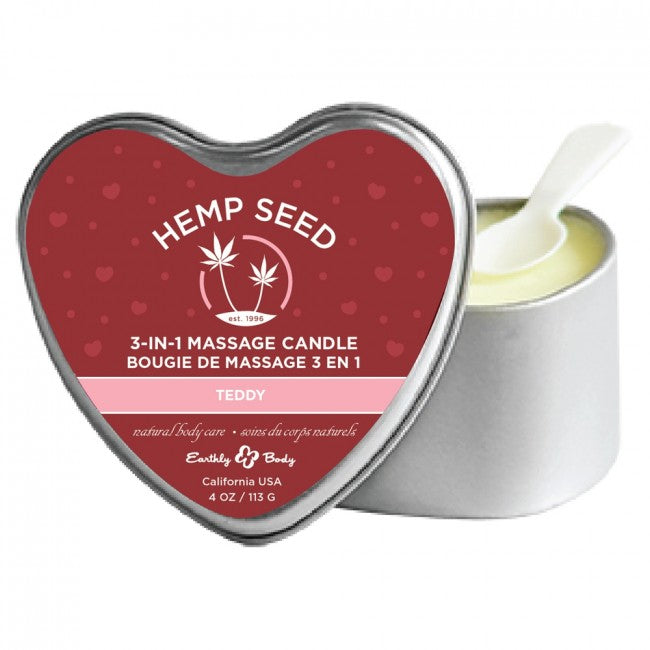 Hemp Seed Heart Teddy Massage Candle | Better Sex, Sex Enhancement, Sex Toys, Adult Toys | My Sex Shop