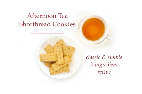 Simple & Delicious 3-Ingredient Afternoon Tea Shortbread Cookies