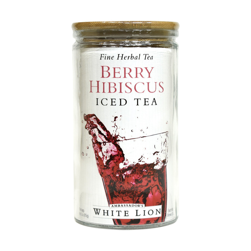 White Lion Berry Hibiscus Iced Tea, Glass Jar, 6 Count, .5 oz