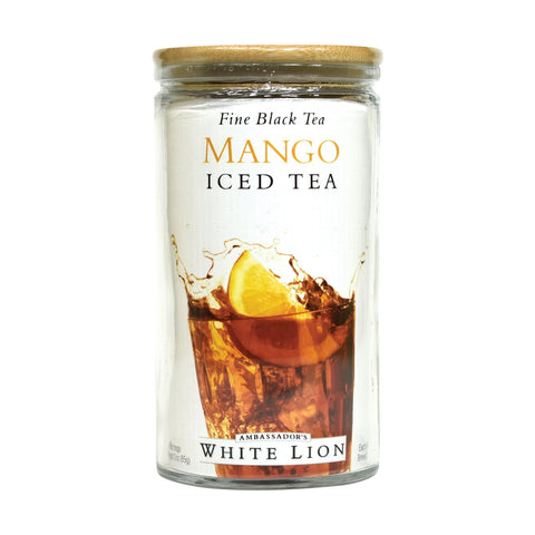 White Lion Mango Iced Tea, Glass Jar, 6 Count, .5 oz
