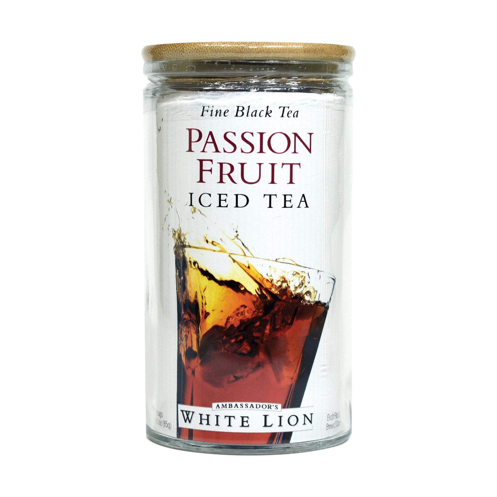 White Lion Passion Fruit Iced Tea, Glass Jar, 6 Count, .5 oz
