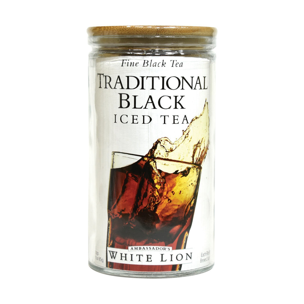 White Lion Traditional Black Iced Tea, Glass Jar, 6, Count, .5 oz
