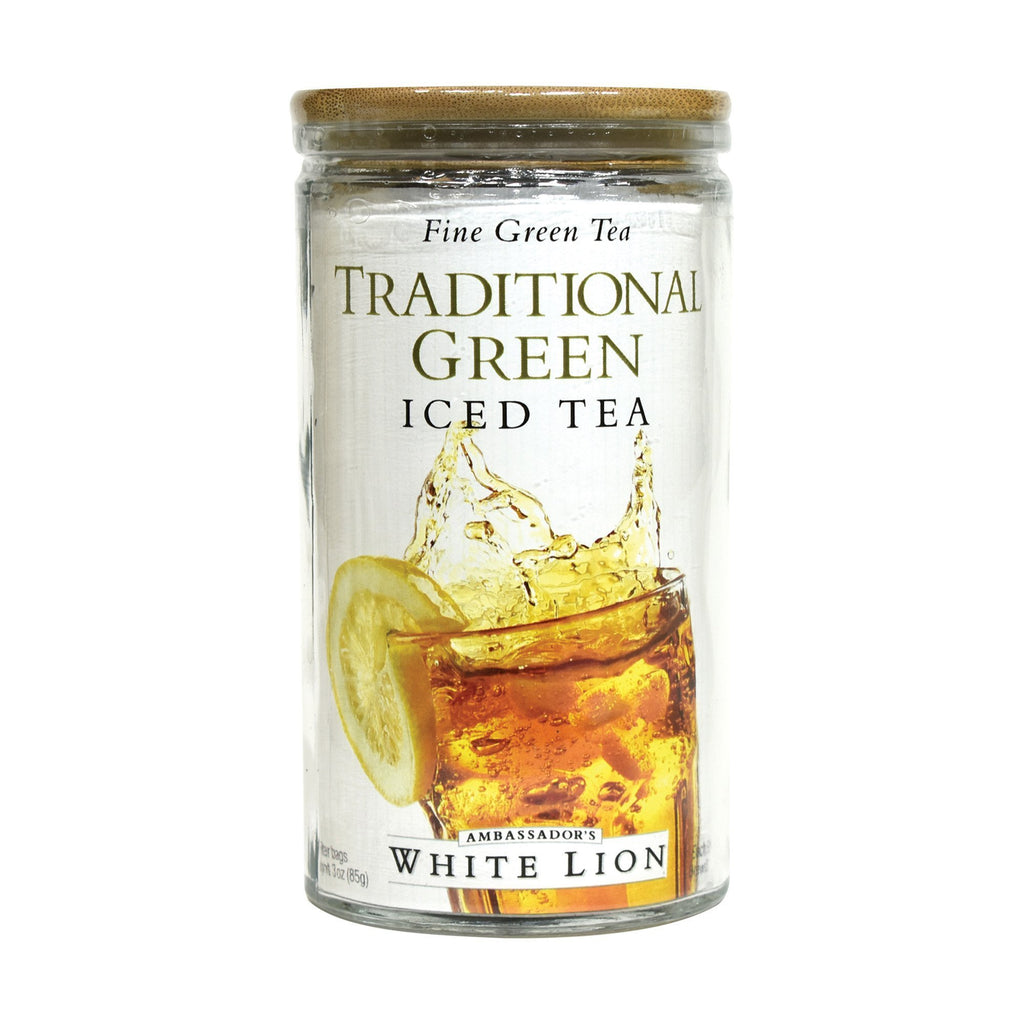 White Lion Traditional Green Iced Tea, Glass Jar,  6 Count, .5 oz