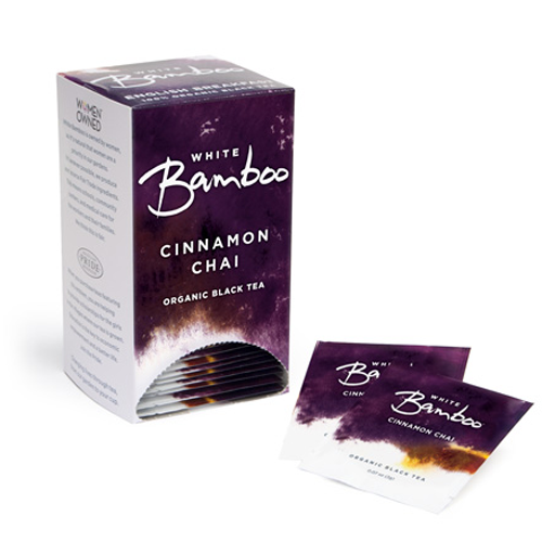 White Bamboo Tea Organic Cinnamon Chai 25 Pc.