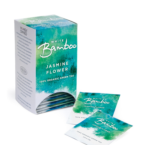 White Bamboo Tea Organic Jasmine Flower 25 Pc.