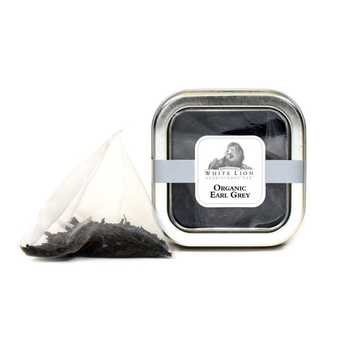 White Lion Organic Earl Grey Tea Tin 5 Ct.