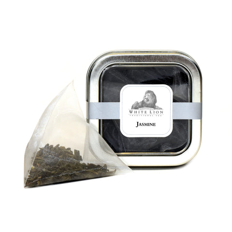 Image of White Lion Organic Jasmine Tea Tin 5 Ct.