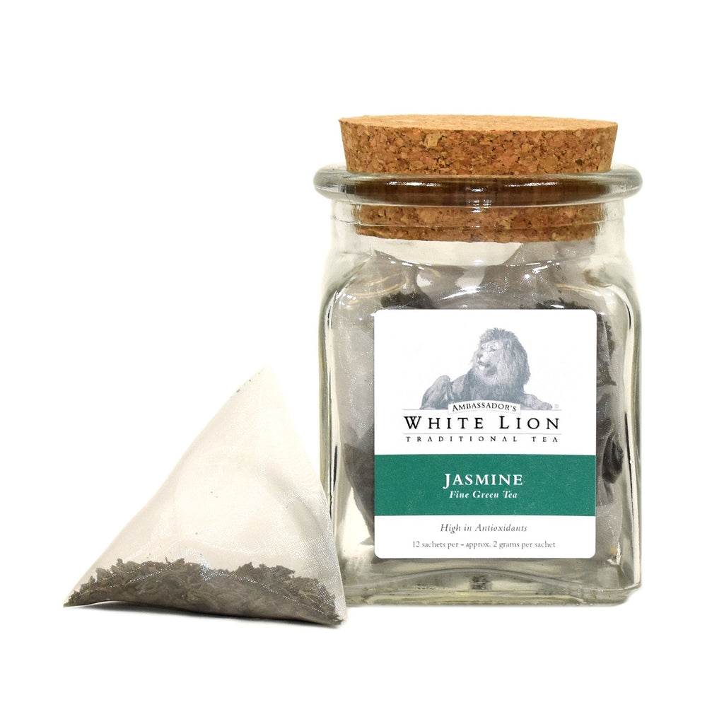 White Lion Organic Jasmine Tea Jar 12 Ct.