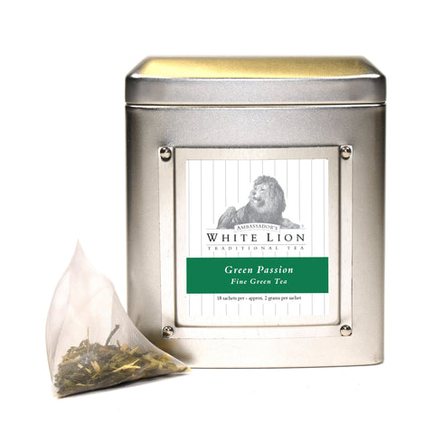 Image of White Lion Green Passion Tea Tin 18 Ct.