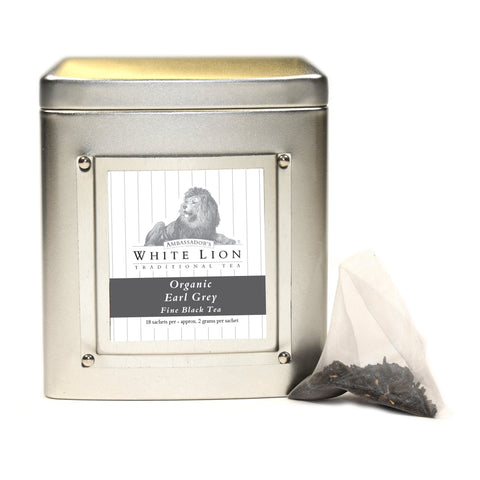 Image of White Lion Organic Earl Grey Tea Tin 18 Ct.