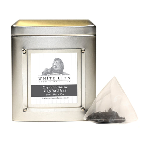 Image of White Lion Organic Classic English Blend Tea Tin 18 Ct.