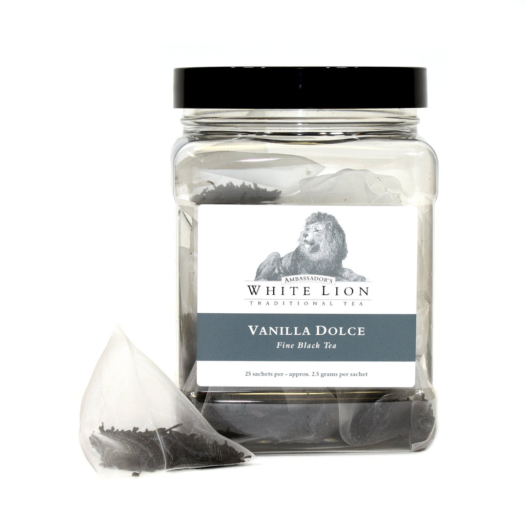 White Lion Vanilla Dolce Tea Canister 25 Ct.