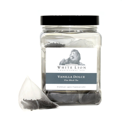 Image of White Lion Vanilla Dolce Tea Canister 25 Ct.