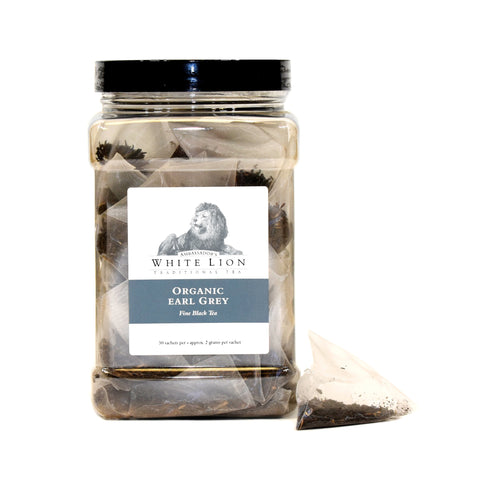 Image of White Lion Organic Earl Grey Tea Canister 50 Ct.