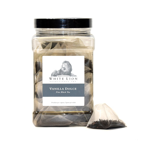 Image of White Lion Vanilla Dolce Tea Canister 50 Ct.