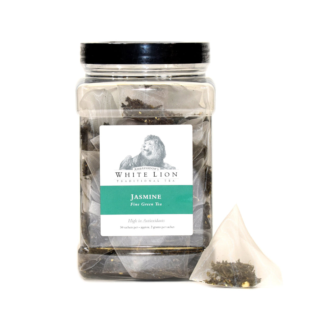 White Lion Organic Jasmine Tea Canister 50 Ct.