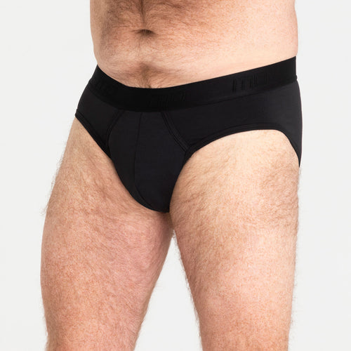 Mens Brief - Black Light-Moderate Absorbency - Modibodi